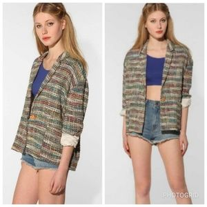 Carin Wester Oversized Silk/Cotton Blazer